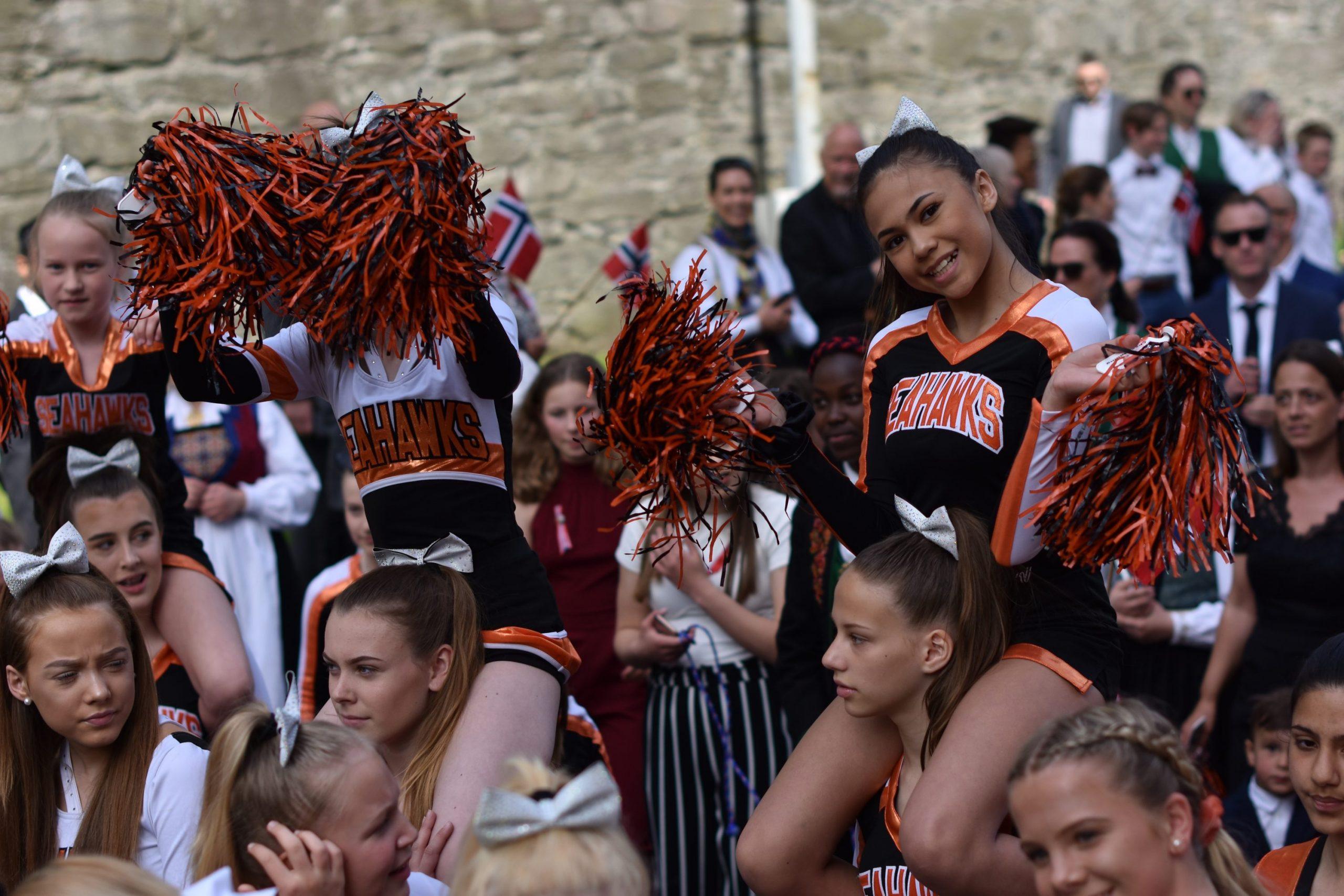 jubel für die pee wee cheerleader